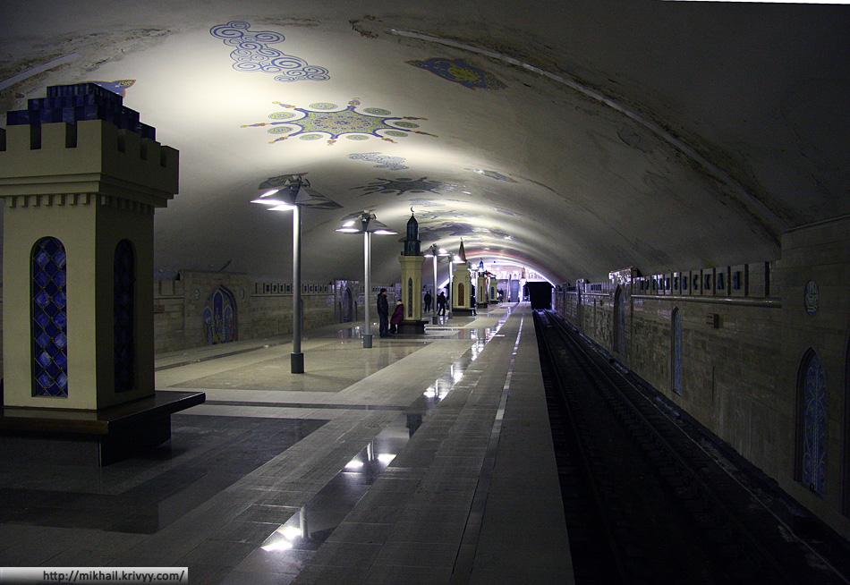 """Метров в Казани открыли совсем недавно. Станция """"Кремлевская""""."""
