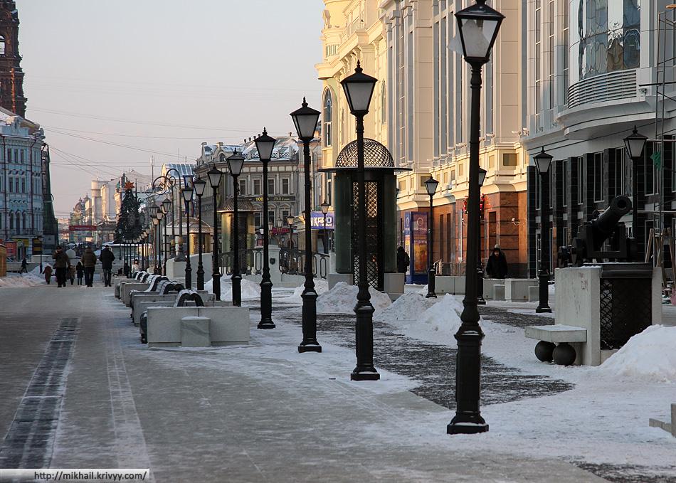 Петербургская улица. Брусчатка имитирует Питерские каналы. Мосты эмитируют сами себя.