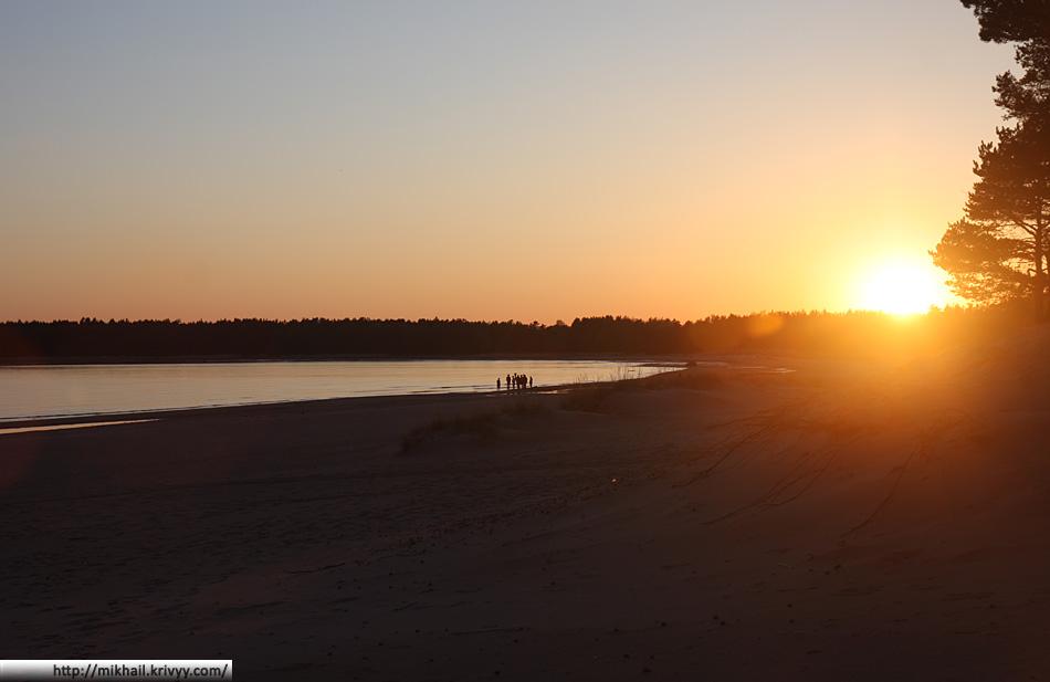 Пляж Юютери. Закат. В мае тут не совсем пляжный сезон :)