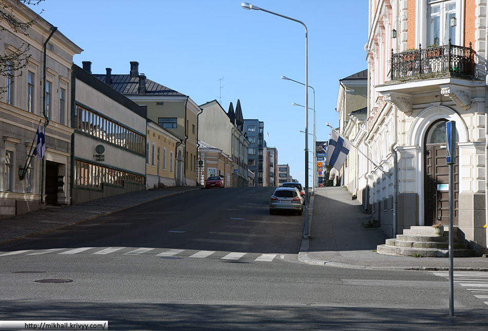 Улицы Пори мало отличаются от улиц других небольших финских городов.
