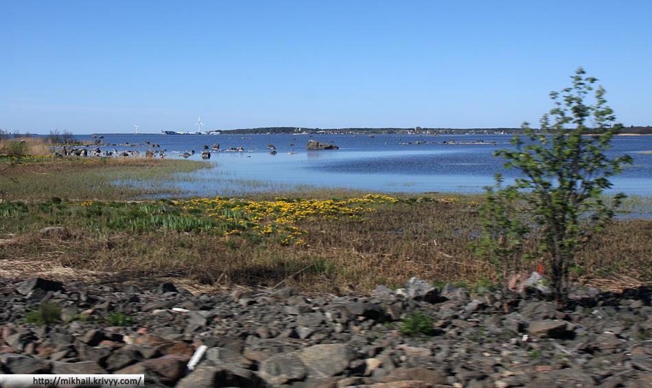 Залив между ЮЮтери (Yyteri) и Репосаари (Reposaari)