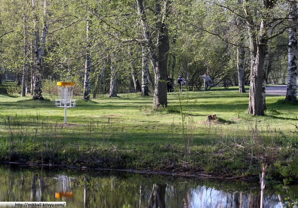 Первый этап чемпионата Финляндии по диск-гольфу.  Пори, Финляндия.