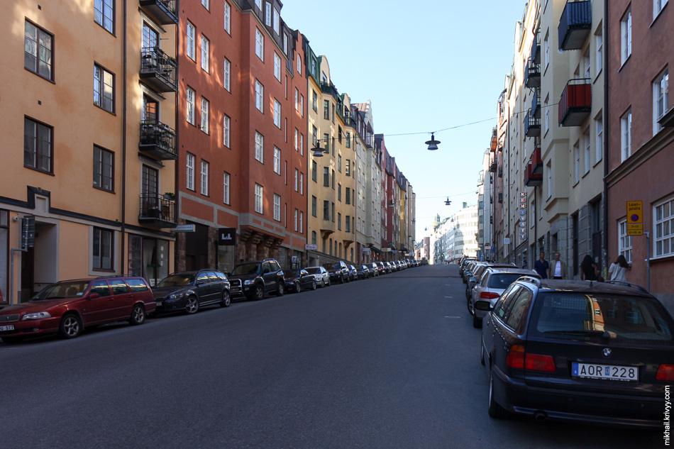 Kungsjolmen. Улица Sankt Eriksgatan.