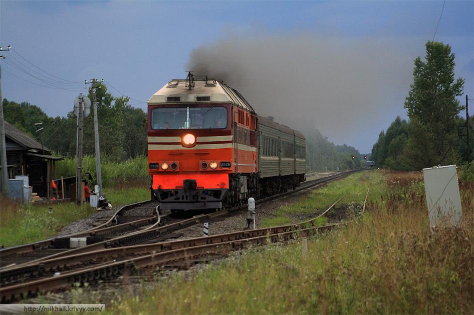 Поезд Луга-Новгород