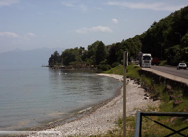 Дорога D1005. Южный берег Женевского озера.