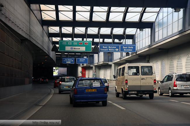 Так выглядит Базель с автомагистрали.