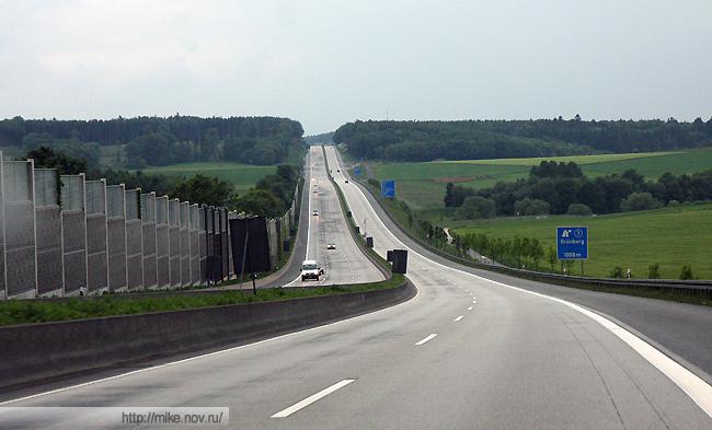 Так выглядит средний немецкий автобан.
