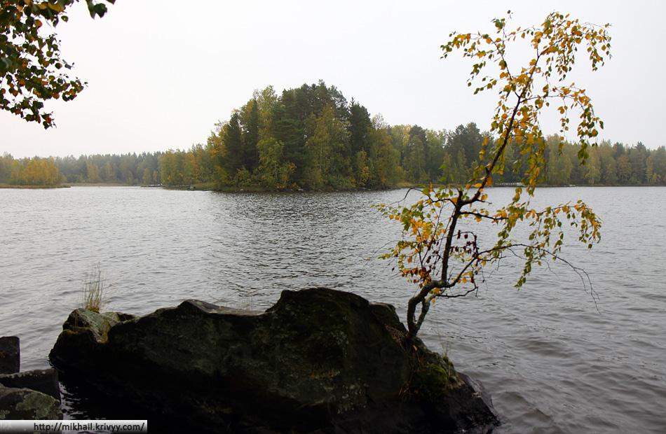 Озеро. Кемпинг Viinikanniemi.
