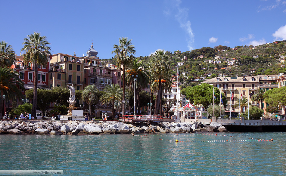 Набережная Санта Маргариту Лигуре (Santa Margherita Ligure). Памятник Колумбу.