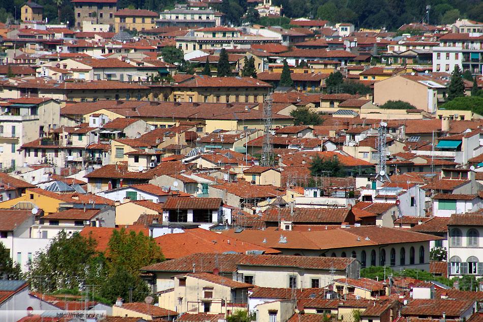 Крыши центральной части Флоренции.