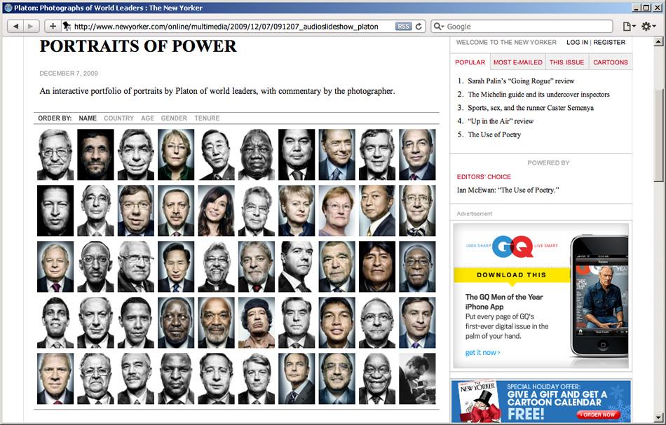 Скриншот сайта www.newyorker.com