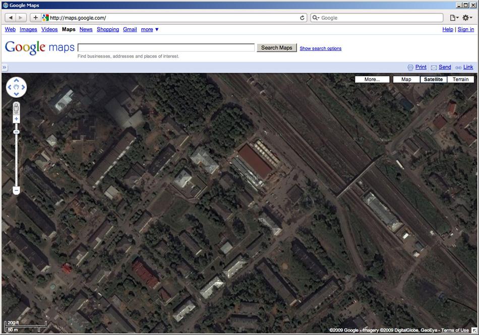 Центр г. Чудово на Google Maps