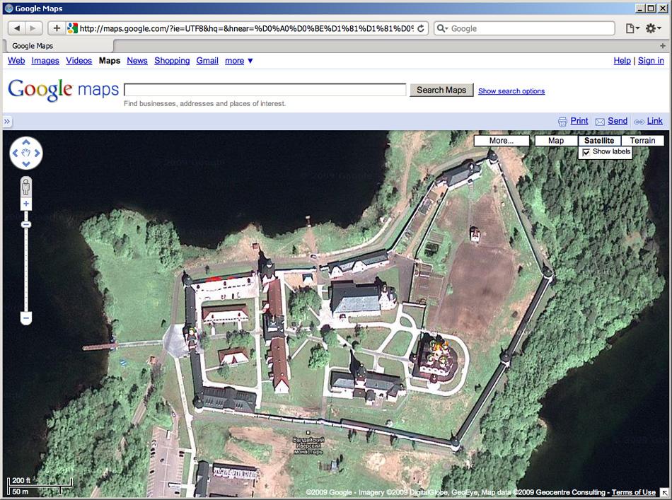 Иверский Монастырь на Google Maps.