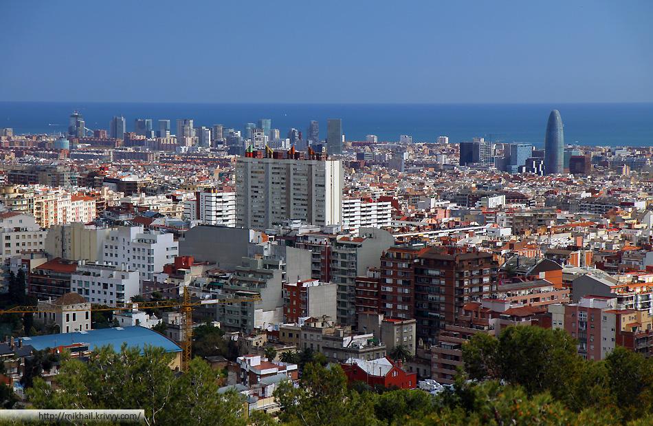 Панорама Барселоны.