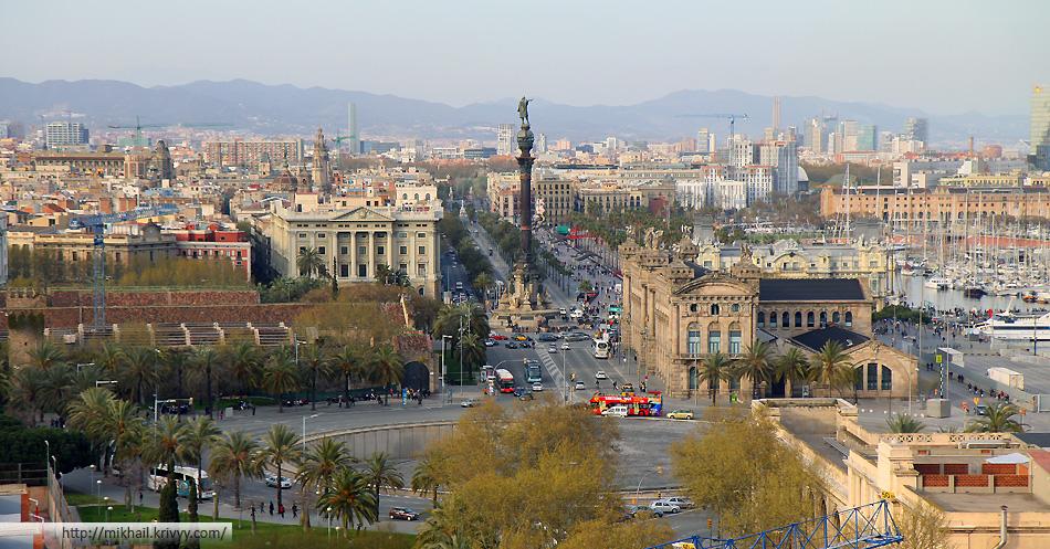 Еще одна припортовая панорама Барселоны.