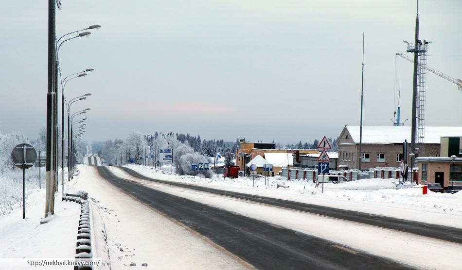 M10/E105 - объездная Валдая. 1 января, 9:00.