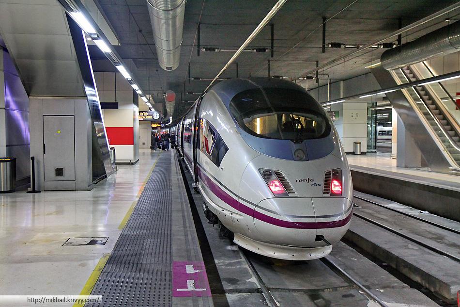 Velaro E на вокзале Барселоны (Barcelona Sants)