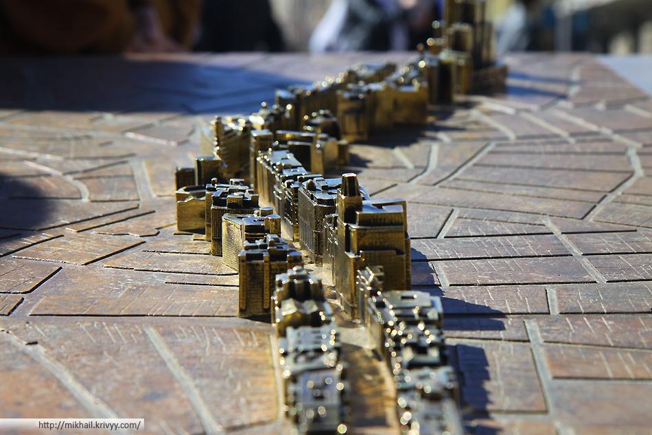 А это макет той самой улицы Гран Виа (Gran Via)