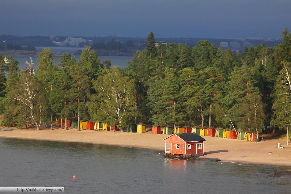 Традиционные виды на архипелаг в районе большого Хельсинки.