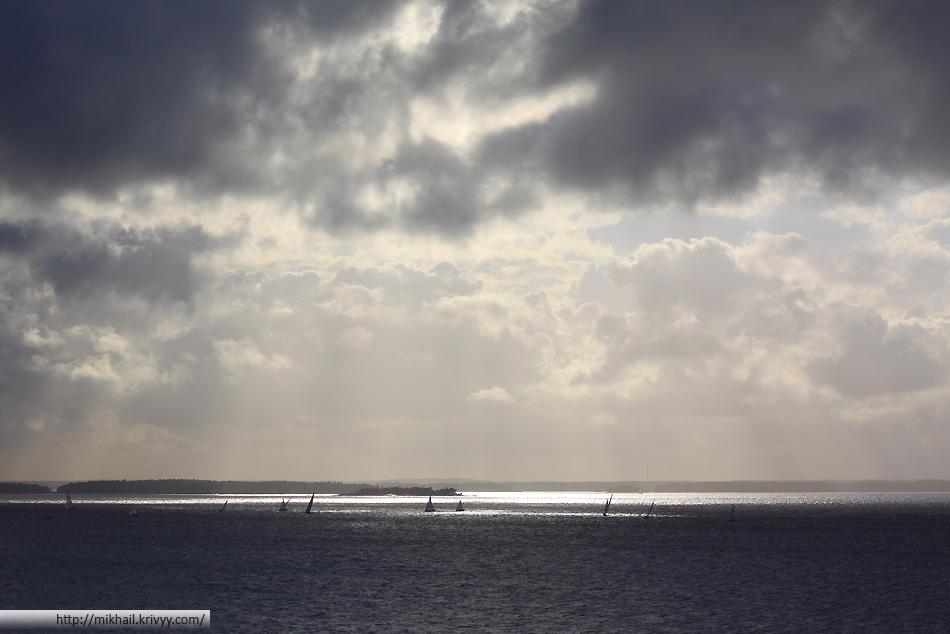 Яхты в архипелаге Хельсинки
