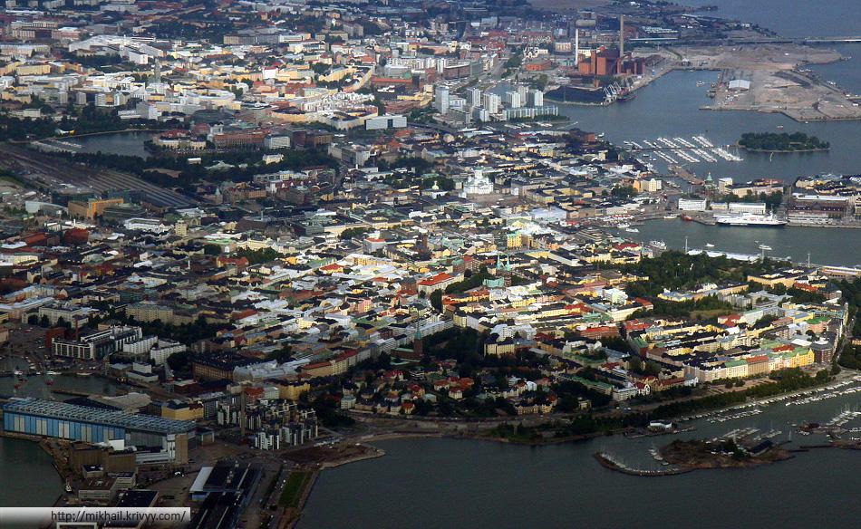 Хельсинки - центральная часть города.
