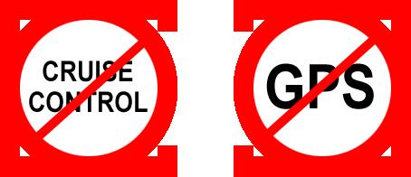 """Знаки """"выключить круиз контроль"""" и """"не верьте GPS"""""""