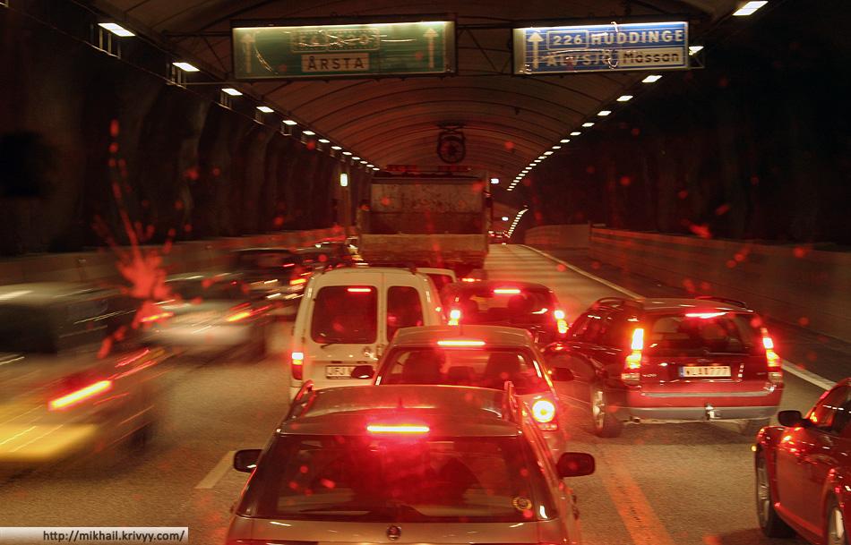 Тоннель Söderleden в Стокгольме.