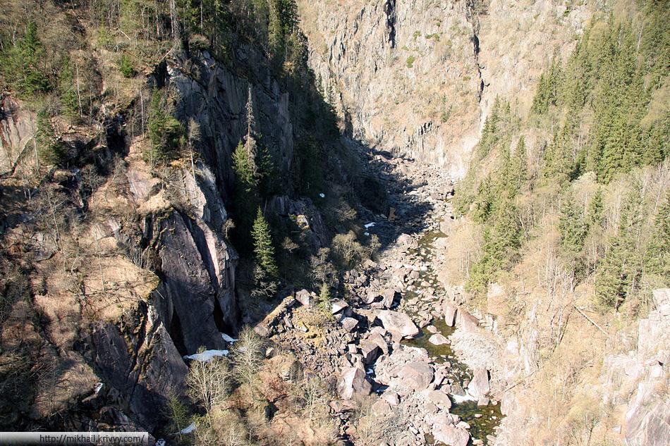 Река Мана (Måna), сразу после водопада Рюканфоссен (Rjukanfossen).