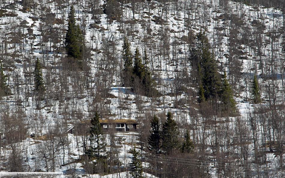 Норвежская дача на плато Хардангервидда (Hardangervidda). Плато находится на высоте от 1200 до 1600 метров над уровнем моря.