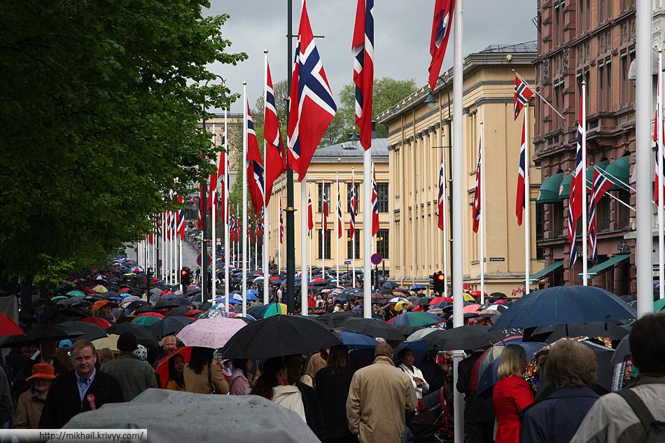 Парад посвященный дню независимости Норвегии.