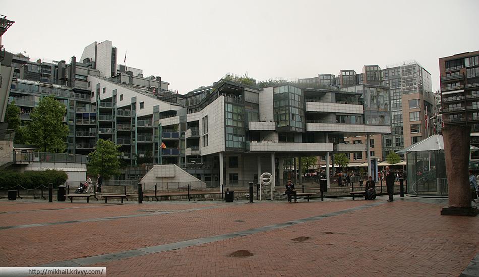 Если немного отойти от исторического центра, то современная застройка Осло выглядит примерно так.