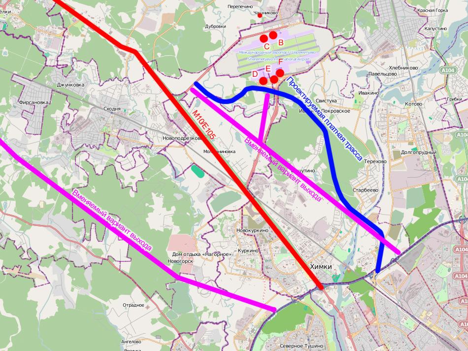 Планируемая дорога появиласть на картах openstreetmaps.org