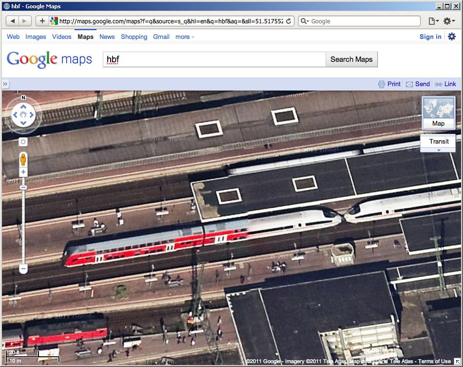 Вокзал Дортмунда (Dortmund Hbf) на Google Maps 45.