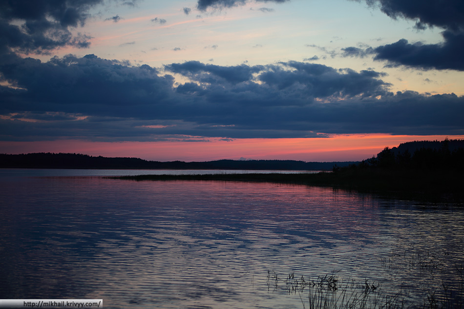 Озеро Съезжее. После заката.
