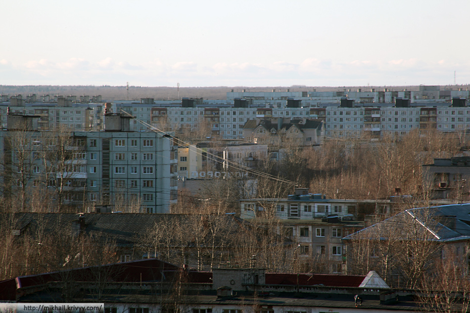 """Западный район. Район улиц Менделеева - Химиков. Кинотеатр """"Новгород""""."""
