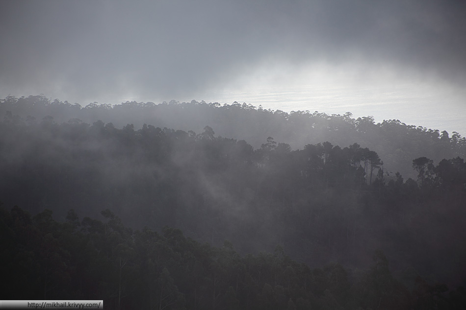 Ближе к 1000 метрам местами становилось облачно.