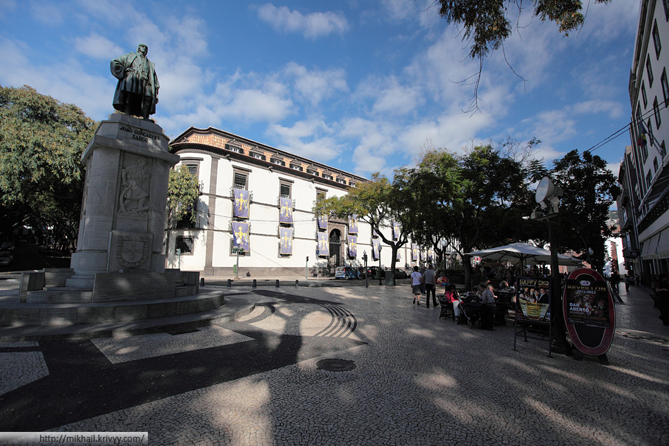 Историческая часть города Фуншал. Avenida Arriaga.