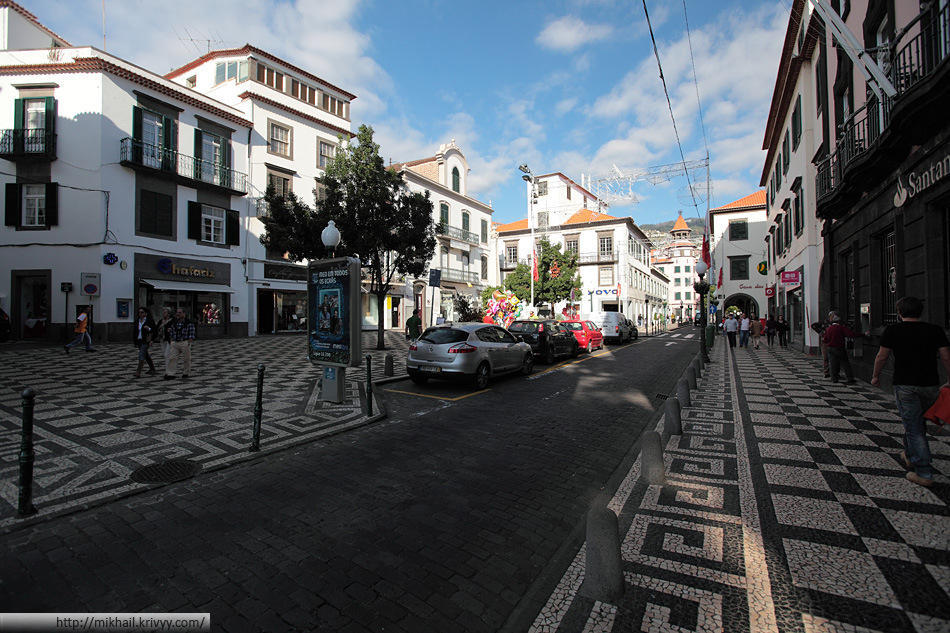 Историческая часть Фуншала. Rua Do Al Jube.
