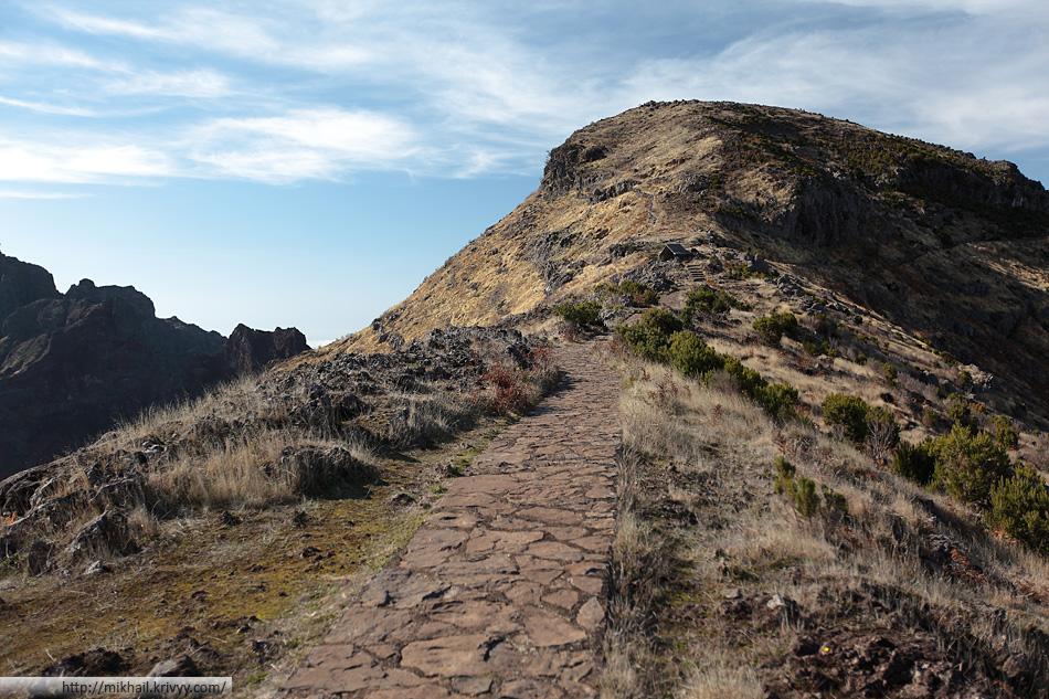 По дороге к пику Руйву (Pico Ruivo)