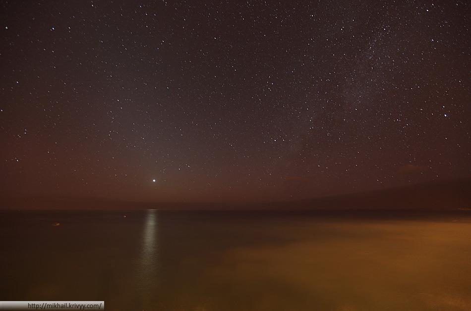 Звезды, океан. Паол ду Мар (Paul do Mar), Мадейра.