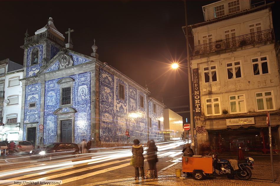 Церковь Санта-Катарина (Capela de Santa Catarina). 18 век. Традиционная средиземноморская отделка керамической плиткой. Такую отделку можно использовать только при отсутствии отрицательных температур.