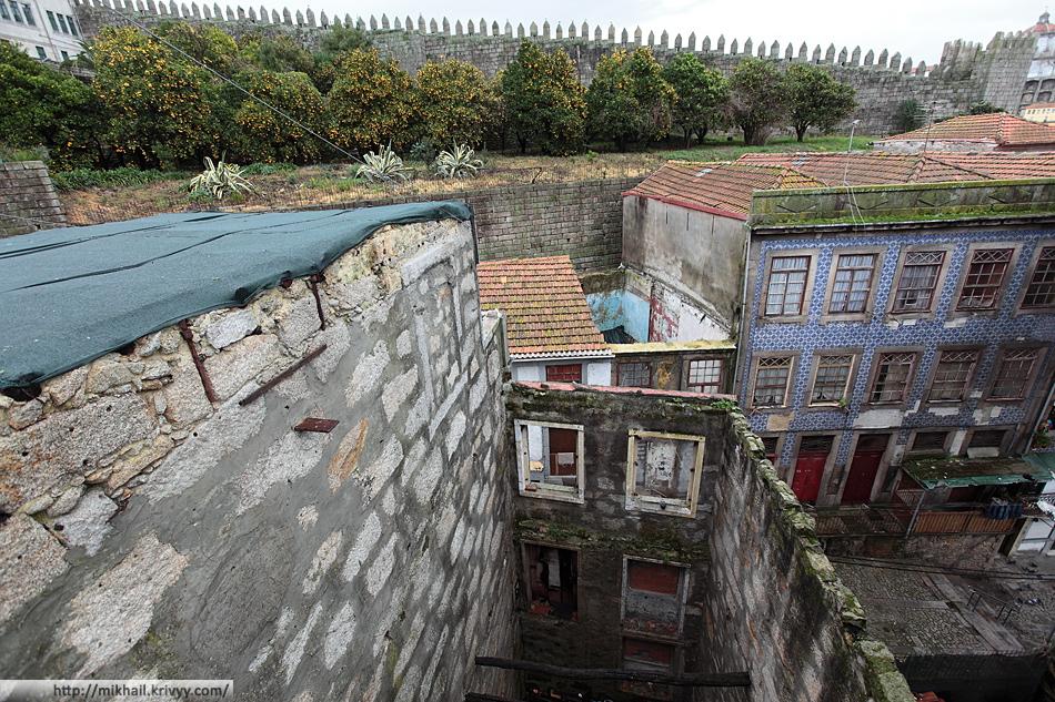 Немного распогодилось и мы направились посмотреть на мосты Порту. Днем стали бросаться в глаза детали - обилие заброшенных домов и созревшие мандарины.
