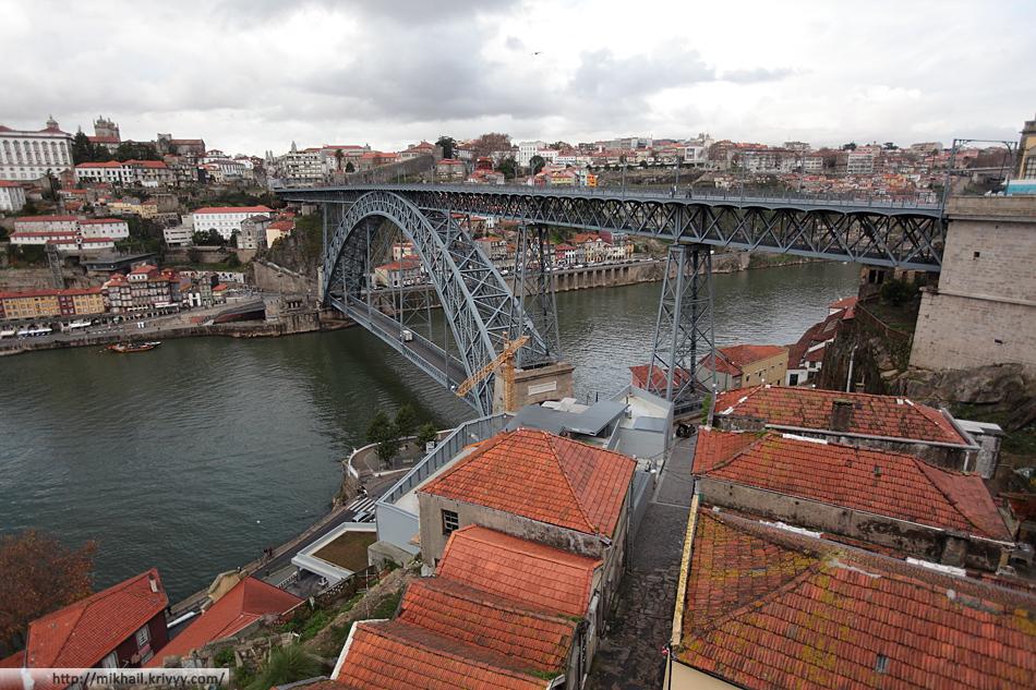 Река Дору. Мост Дона Луиша (Ponte Luís I). Сооружён по проекту ученика и компаньона Гюстава Эйфеля Теофила Сейрига в 1886 году.