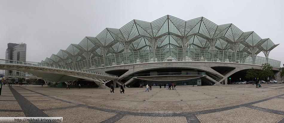 Вокзал Лиссабон Ориенте. Вид со стороны проспекта Жуана II (Av. Dom João II)