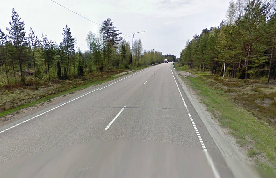 Финляндия, автодорога E18. Хельсинки - Санкт-Петербург. Разрешенная скорость - 80 км/ч. Источник: maps.google.com