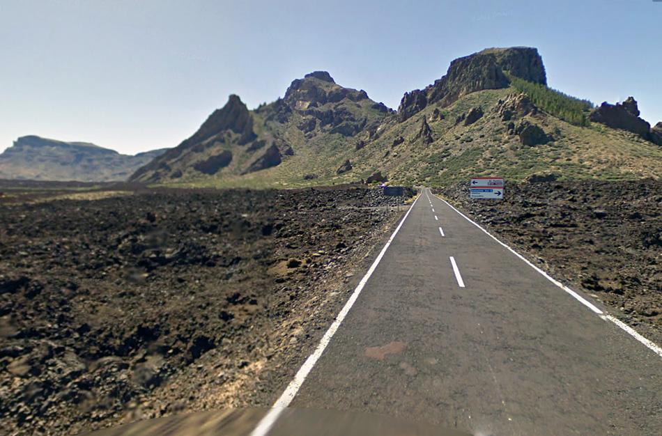 Испания. Тенерифе. Дорога TF21 - кальдера вулкана Тейде. Разрешенная скорость - 80 км/ч. Источник: maps.google.com