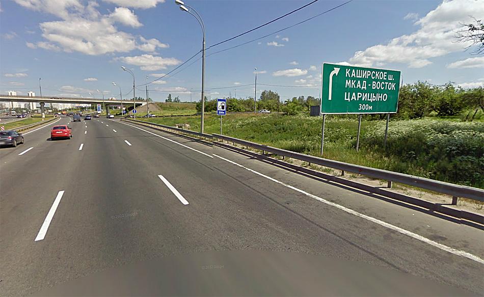 "М4 ""Дон"" в районе МКАД. Источник: maps.google.com"