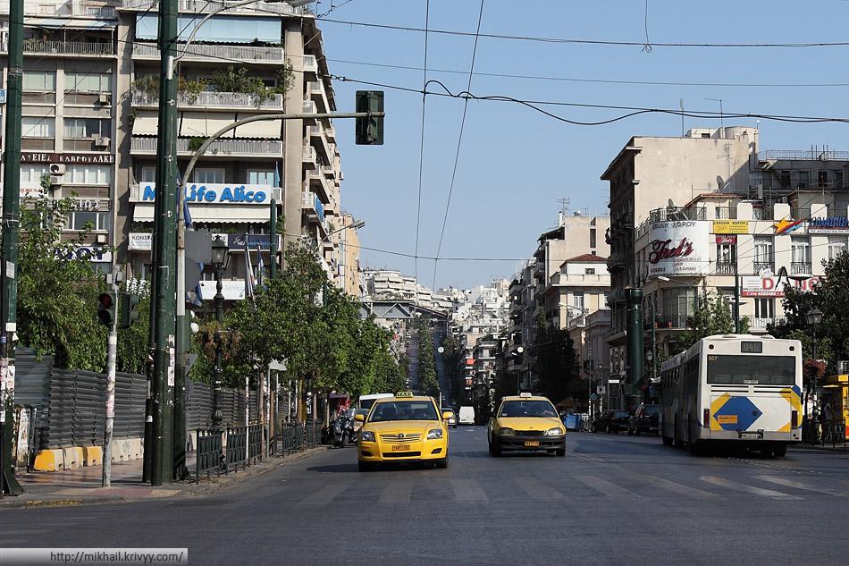 Центральные улицы Пирея. Агломерация Афин.