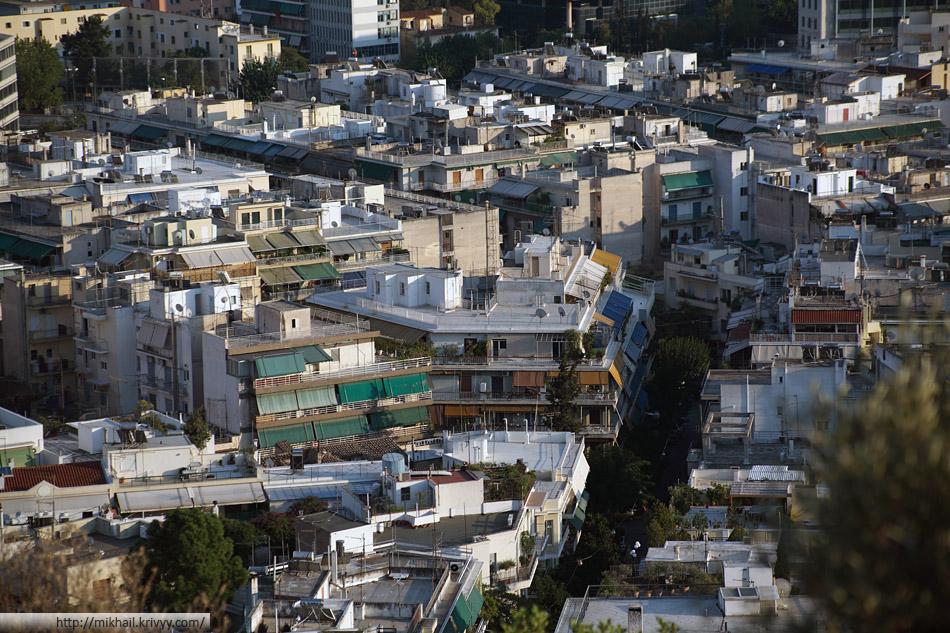 Афины. Типичная жилая застройка.