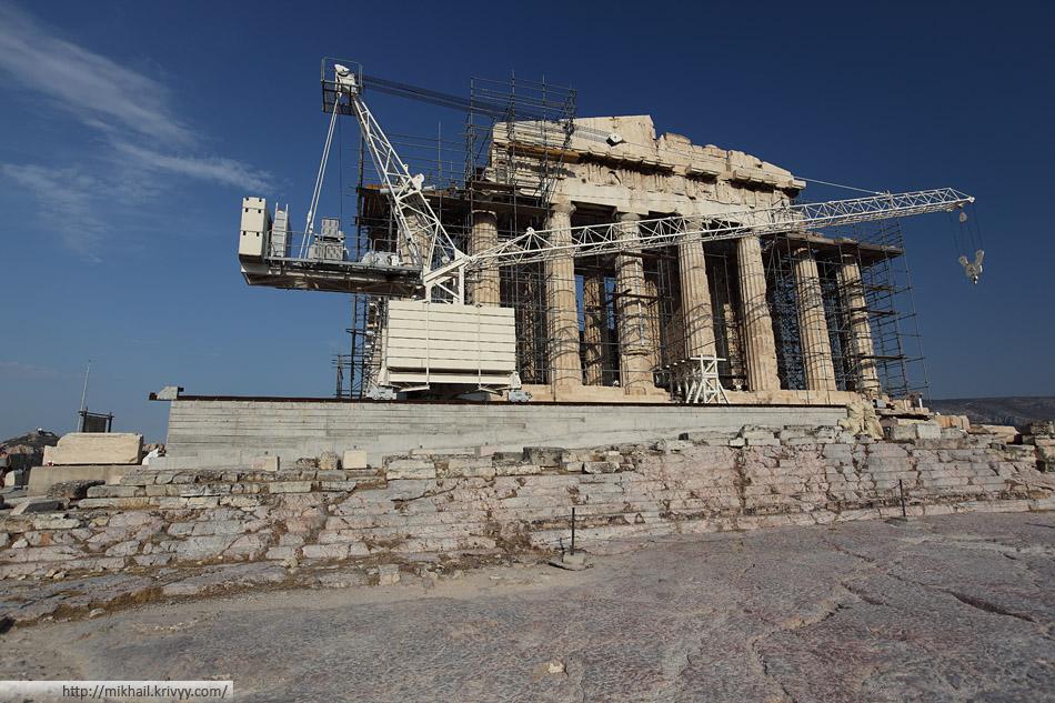 Афинский Акрополь. Парфенон.